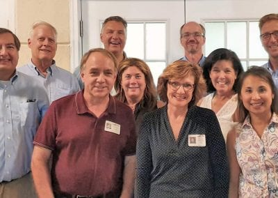 The 40th Reunion Committee - Mike Kender, Jim Kennedy, Steve Franz, Ken Moir, Sue Cambridge Headley, Michelle Schneider Tiller, Stuart Williams, Emily Dinman Mahoney, Irna DeLeon-Knapp, Jerry Gob