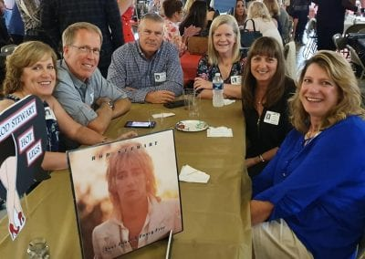 Valli June Ellis, Jim Van Huyck, Rod Stewart, Craig Matson, Jane Stadterman Scott, Margy Winter Khoshnood, Karen Ellis