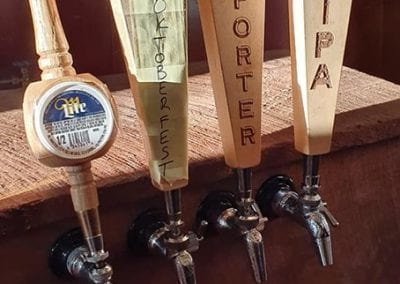 The Taps For Miller Lite plus Oktoberfest, Porter, and IPA from the Headley Brewing Co.
