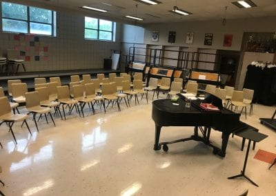 This is the choir room. We could not visit the band room as there were auditions underway.